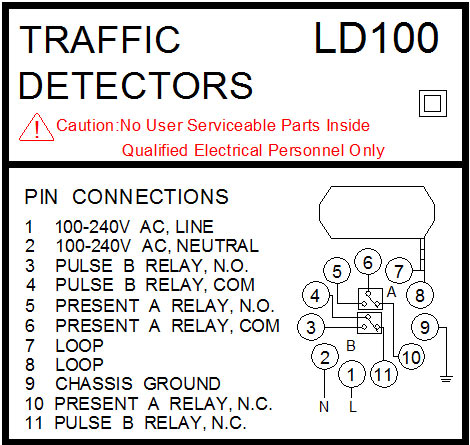 VEHICLE DETECTOR LABEL