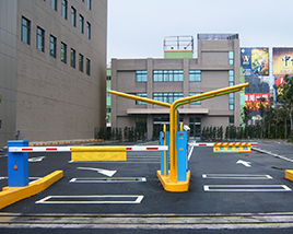 Automatic parking facilities with barcode ticket